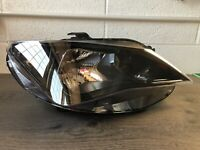SEAT IBIZA LHD HEADLIGHT FRONT LAMP TYC With Levelling Motor + bulbs 6J1941034H