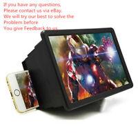 Folding Mobile Phone Screen Magnifier 3D HD Screen Amplifier Stand Bracket New