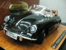 WOW EXTREMELY RARE Porsche 356B Cabrio Black Wooden Base 1:18 B burago/Executive