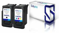 Sellyaha 2 PK Black&Color Ink For Canon PG-245XL CL-246XL PIXMA MX490  IP2820