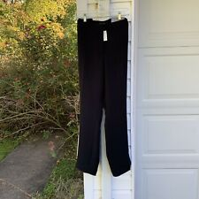NWT Talbots Beautiful Black Seasonless Lined Straight Leg Pants 18W 2X