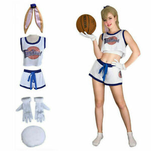 Lady Women Space Jam Lola Bunny #10 Cute Tune Squad Sexy Dress Sets Cosplay