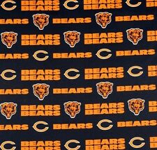 """NFL Chicago Bears Blue Logo Cotton Fabric By the Yard 60"""" W"""