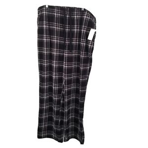 Croft & BARROW 3xl TALL PLAID FLEECE PAJAMA Pants Mens Black Gray NEW