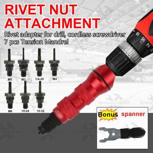Riveting tool rivet nut attachment rivet adapter for drill cordless screwdriver