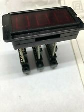 """Three digit display, red led, 5VDC, 5/8"""" Characters, Datasheet, Dialco"""