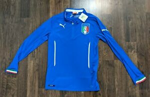 Italy Italia 2014-15 Puma Long Sleeve Home Jersey Size M NWT world cup edition