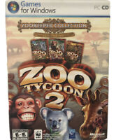 Zoo Tycoon 2 Zookeeper Collection Endangered & African Adventure Expansions New