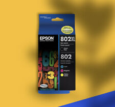 Genuine EPSON 802XL High Capacity Black 802 Color Ink Combo Pack Exp 04/2024