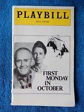 First Monday In October - ANTA Theatre Playbill - November 1978 - Henry Fonda