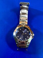 Vintage Formal  Timex Deep blue face Mens watch - new battery, working well