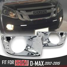 CHROME FOG LIGHT LAMP COVER TRIM FIT FOR NEW 2012 2013 14 ISUZU D-MAX DMAX RODEO