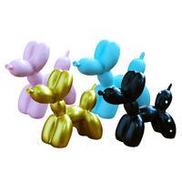 4X Résine Ballon Décoratif Chien Ornement Décoration De Bureau Artisanat