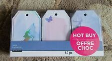Recollections Tags 60 Pieces Gift Present Tags UNICORNS,BUTTERFLY,MERMAIDS ,NEW