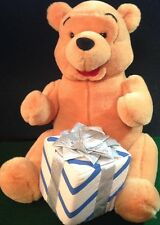 """Wdw Disney Holiday Pooh 12"""" Plush with Gift Wrapped Box Present Toy Collectible"""