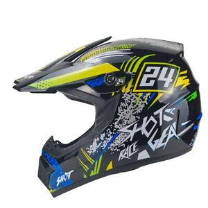 Hot-Shot Crosshelm für Kinder blau Motocrosshelm helm Kinderhelm Endurohelm