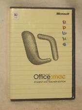 Microsoft Office Mac Student & Teacher 2004 X10-33165 w/ product keys