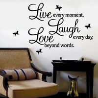 GOOD Word Decal Vinyl Home Room Decor Art DIY Wall Stickers Bedroom Removable a6