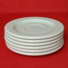 6 Arzberg Cult Weiß Tee-Untertassen 15 cm Untertasse Porzellan