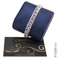 Bracciale uomo maglie argento G4Love collezione Luxury fashion catena 925 donna