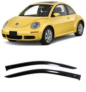 For VW Beetle (A4) 1997–2010 Window Visors Side Sun Rain Guard Vent Deflectors