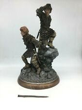 THE LORD OF THE RINGS FRODO AND SAM STATUE Sideshow Collectibles NEEDS REPAIR!