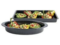 Baking Tray Casserol Roasting Dish 400 °C Rectangle Oval 4 x 29 x 42 5.5 x36 x25