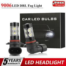2x 9006 LED Fog Light 100W Conversion Kits Bulb Car Driving Lamp DRL 6000K SUPER