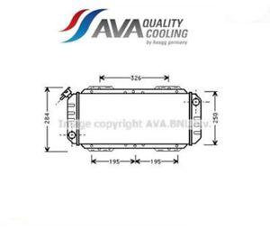 FD2008 Radiatore, Raffreddamento motore (AVA)