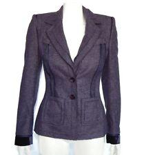 ESCADA Purple Blazer Wool Jacket Women's size 34 Beautifully Detailed Design!