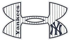 Under Armour New York Yankees Baseball Truck/Window Decal Sticker - Set of 3