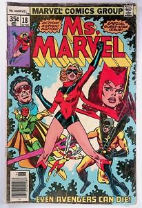 Ms. Marvel #18 Newsstand WP 1st Full Appearance Of Mystique (X-Men)
