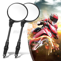 1 Pair Universal Motorcycle Folding Rearview Side Mirrors Round For Honda KTM