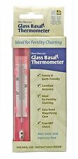 Fairhaven Health Mercury-Free Glass Basal Thermometer BBT Charting Carrying Case