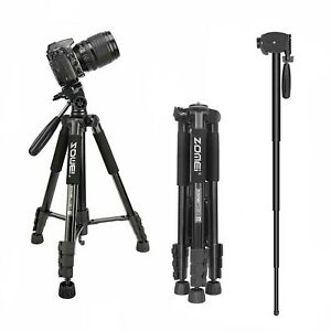 ZOMEI Q222 Camera Tripod Monopod 55''Compact Light Weight Travel stand for DSLR
