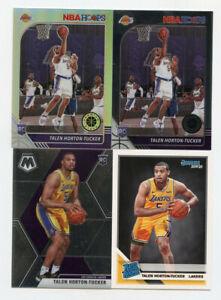 Lot of (4) Talen Horton-Tucker Rookie Cards Hoops Donruss Mosaic AG543