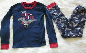 NWT Gymboree Skater Dino Dinosaur Scooter Gymmies Sleep Set Pajamas Boys 8 10