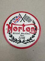 Norton Motorcycles Plaque Large 22cm Cast Iron Repro Vintage Style Sign British