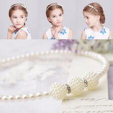 Baby Girls Kids Pearl Beads Headband Head Wear Tiara Hair Band Head Jewelry