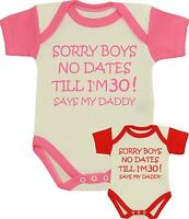 Baby Girls Clothes NO DATING Funny Slogan Bodysuit Vest One Piece Shower Gifts