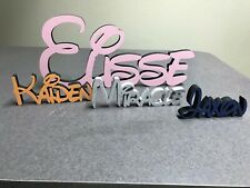 DISNEY STYLE MDF PERSONALIZED FREE STANDING PLAQUE/LETTERS. SEE DESCRIPTIONS.