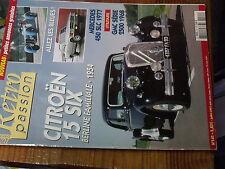 8µ? Revue Retro Passion n°141 G.M.C PickUp 2500 Mercedes 450 SLC 1977 Citroen 15