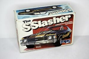 MPC The SSlasher Chevelle SS Street Machine Kit 1:25 Scale Open Box Molded Black