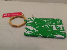 Lilly Pulitzer for Target Wristlet Boom Boom Palm Green Canvas Zip NEW