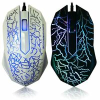 LED Optical Gaming Mouse Gamer Wired Mice For PC Laptop Computer Accessories New