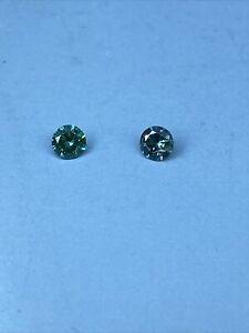 Loose natural Diamond Round  0.16 ct VVS1 Blue (2 Diamonds)