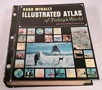 VTG 1962 RAND McNALLY ILLUSTRATED ATLAS OF TODAY'S WORLD ENCYCLOPEDIC EDITION