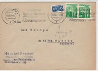 Germany 1948 Obligatory Tax Aid For Berlin Hamburg Cancel Stamps Cover Ref 24150