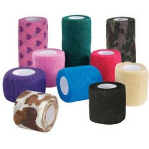 "VET TAPE BANDAGING WRAP Dogs Cats Horses 2"" or 4"" CLEARANCE"