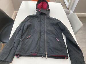 Ladies Girls Superdry Original Windcheater Japan Black & Pink Jacket Size M